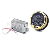 OMEGA ELECTRONIC LOCK W/ BRASS KEYPAD & SWINGBOLT LOCK BODY