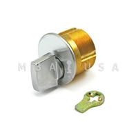 "Turn Knob Mortise Cylinder 15/16"" Adams Rite Cam/Tailpiece - Satin Chrome"