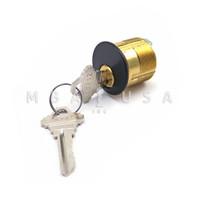 """Mortise Cylinder 1-1/8"""" Schlage Standard Cam/Tailpiece Bronze - Keyed Different"""