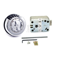 LP REDUNDANT DEADBOLT LOCK PKG - BRIGHT CHROME KEYPAD - 4 WHEEL LOCK BODY GP2M