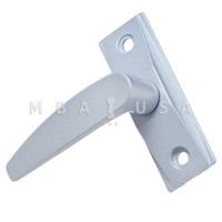 Lever Handle, Left Hand, Straight (456-S), Clear (Aluminum)