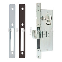 "Hook Bolt Lock, 1-1/8"" Backset, Faceplates Flat Clear (Aluminum) and Dark Bronze FP"