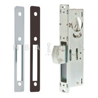 "Dead Bolt Lock, 1-1/8"" Backset, Faceplates Flat Clear (Aluminum) and Dark Bronze"