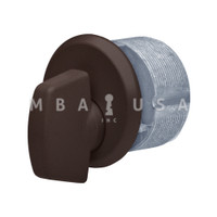 "Mortise Turn Knob, 1"", Dark Bronze"