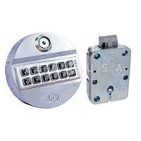 PulsePro Spring Bolt Lock & Keypad, Rubber Membrane, Dallas Key, Chrome