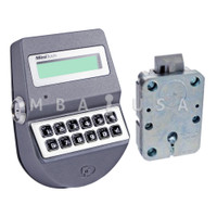 MiniTech Spring Bolt Lock & Keypad, Dallas Key Reader, Chrome
