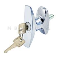 Tamper-Resistant T-Handle Cam Lock, Keyed Alike