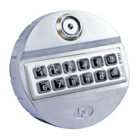 PulsePro Keypad, Dallas Key, Rubber Membrane, Chrome