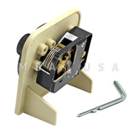 S&G Mounted 6730 Cutaway Lock w/ D003 Front Reading Dial, Black & White Finish