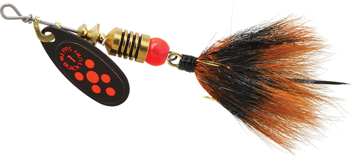 Black Fluorescent Red Dot with Black & Orange Tail