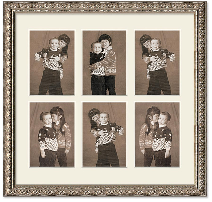Imperial Silver Collage Wall Frame 6 Openings Picture