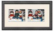 Imperial Black collage frame with 2-horizontal openings and off white mat
