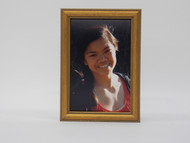 Mini Beaded Antiqued Gold Wood Tabletop Frame