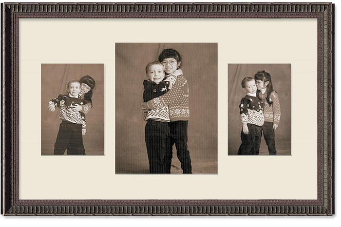 Ornate Black Portrait Multi Size Collage Wall Frame 3 Openings