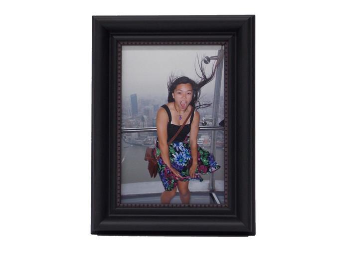 4x5 Arqadia Black Bead Tabletop Picture Frame