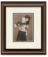 5x7 2-Toned Walnut Wall Frame - Double Off White Mat