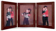 5x7 Triple Hinge Vertical (Portrait) Picture Frame - Walnut Finish
