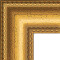 Corner Detail of Hand Gilded Distressed Gold Leaf Wood Picture frame