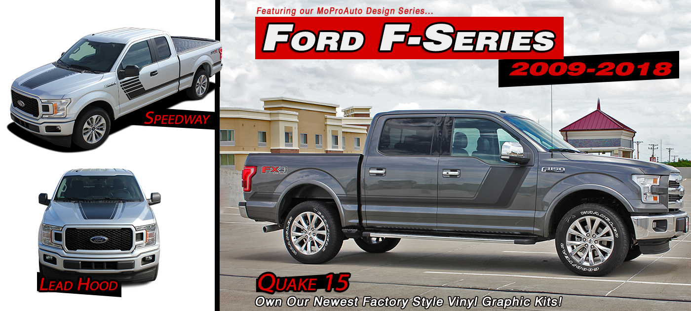 Ford F-150 Stripes Decals Vinyl Graphics
