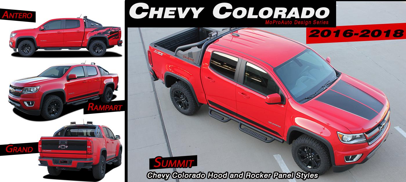 Chevy Colorado Stripes Decals Vinyl Graphics