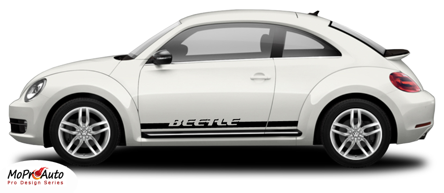 BEETLE ROCKER 2 : Lower Rocker Panel Vinyl Graphics Kit for 1998-2016 2017 2018 Volkswagen Beetle