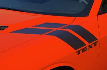 DOUBLE BAR HASH STRIPES Dodge Challenger Vinyl Graphics, Stripes and Decals Set