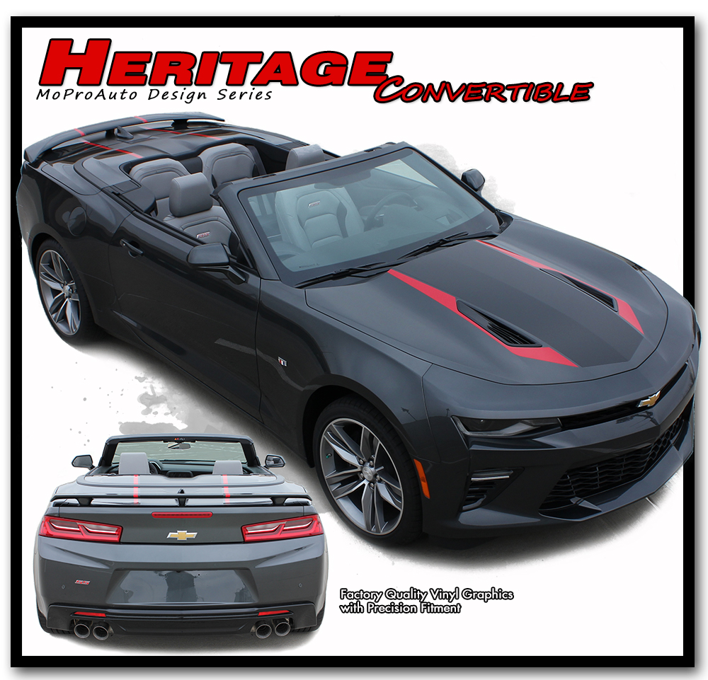 2016 2017 2018 Chevy SS RS Camaro HERITAGE CONVERTIBLE 50th ANNIVERSARY INDY 500 Vinyl Graphics Kits, Decals, Stripes