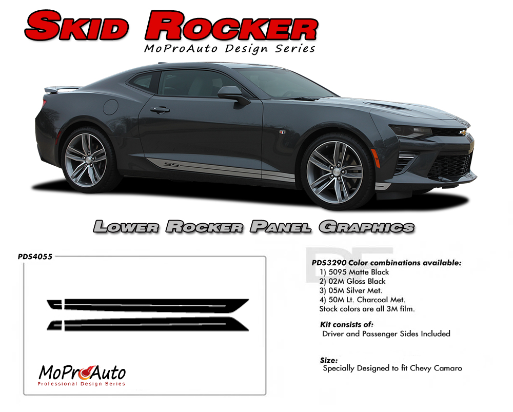 2019 2020 Chevy SS RS Camaro SKID ROCKERS Vinyl Graphics Kits, Decals, Stripes
