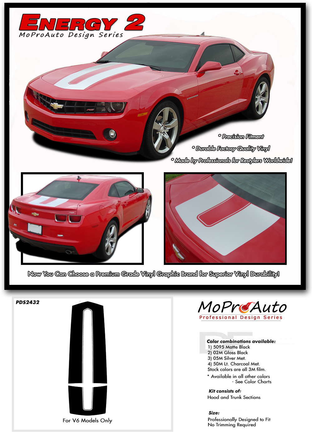 2014 Chevy Camaro Vinyl Graphics Kits, Decals, Stripes,