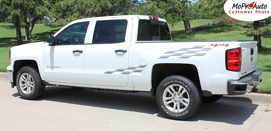 2000-2010 2011 2012 2013 2014 2015 2016 2017 2018 CHEVY SILVERADO GMC SIERRA - MoProAuto Pro Design Series Vinyl Graphics, Stripes and Decals Kit