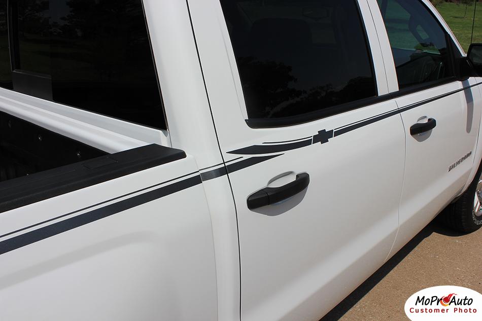 2014-2015 2016 2017 2018 Elite Chevy Silverado GMC Sierra - MoProAuto Pro Design Series Vinyl Graphics, Stripes and Decals Kit