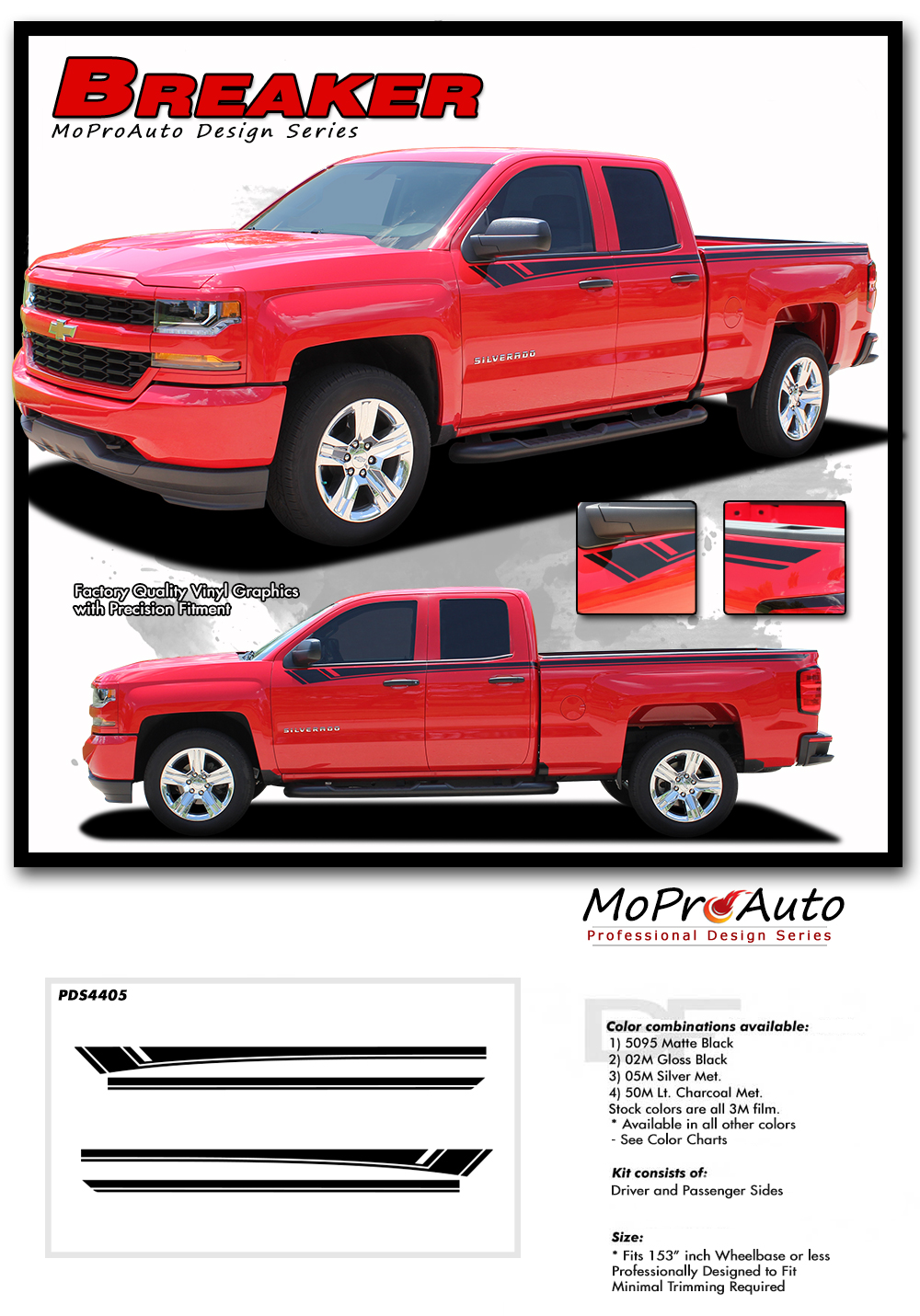 Car Truck Decals Emblems License Frames Car Truck Decals Stickers Chevrolet Silverado 2x Graphics Vinyl Body Decal Stickers Premium Quality Auto Parts Accessories Car Truck Parts