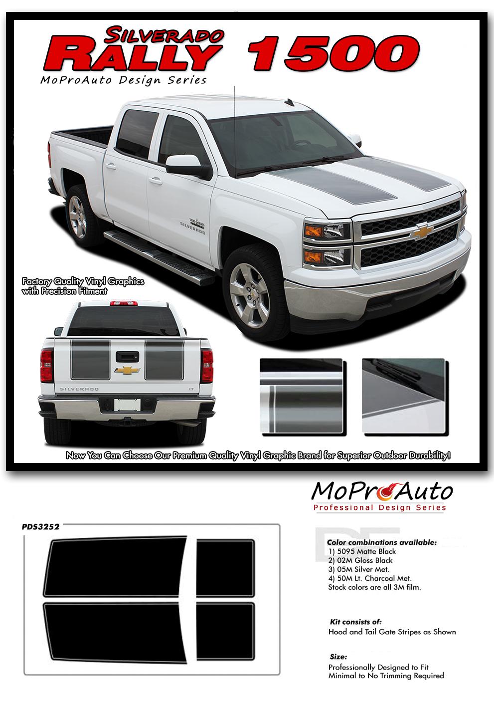 Rally 1500 2014 2015 Chevy Silverado Vinyl Graphic Decal