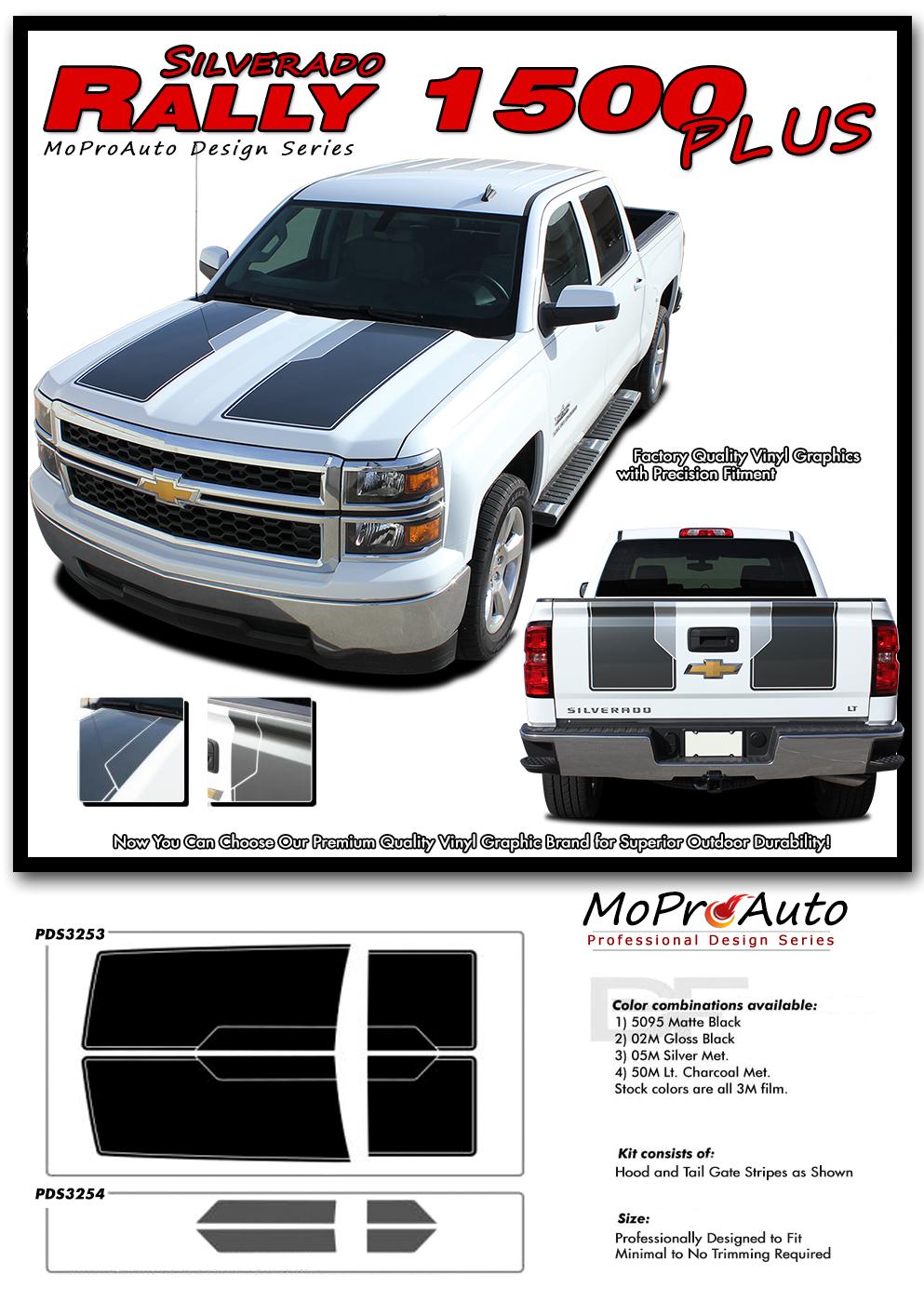 "Chevy Silverado Rally Edition >> RALLY 1500 PLUS : 2014 2015 ""Rally Edition Style"" Chevy Silverado Vinyl Graphic Decal Racing ..."