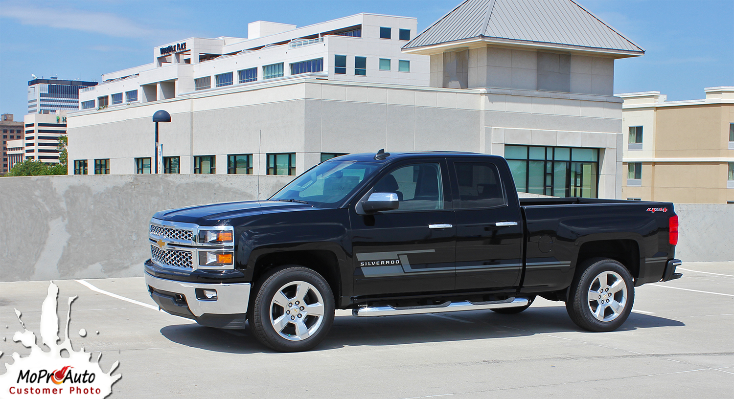 2014 2015 2016 2017 2018 SHADOW - CHEVY SILVERADO - MoProAuto Pro Design Series Vinyl Graphics, Stripes and Decals Kit