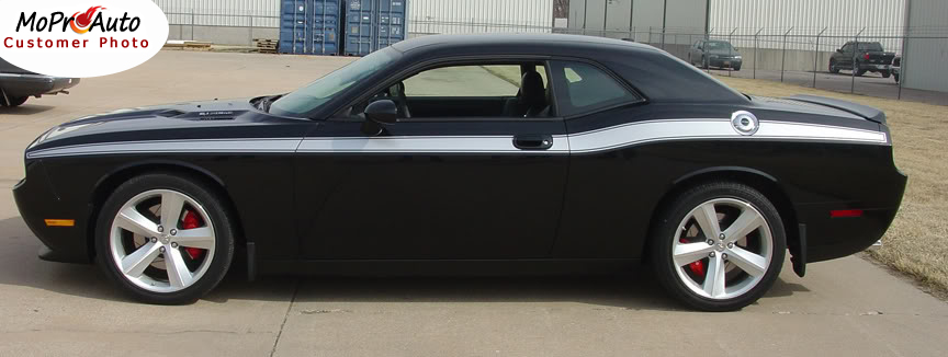Dodge Challenger Classic Track Vinyl Graphics, Stripes and Decals Set by MoProAuto