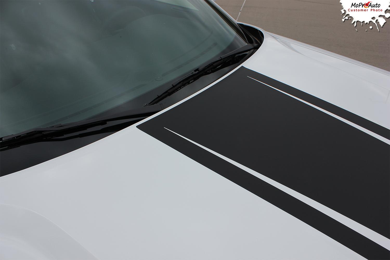 Dodge Challenger Cuda Strobe Factory OEM Style Stripes Decals Vinyl Graphic