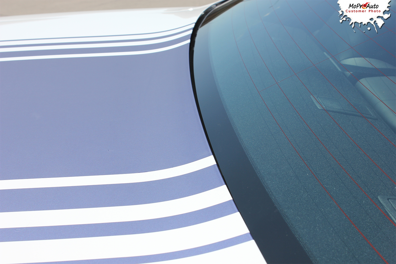 Dodge Challenger Shaker Hood Roof Strobe Factory OEM Style Stripes Decals Vinyl Graphic