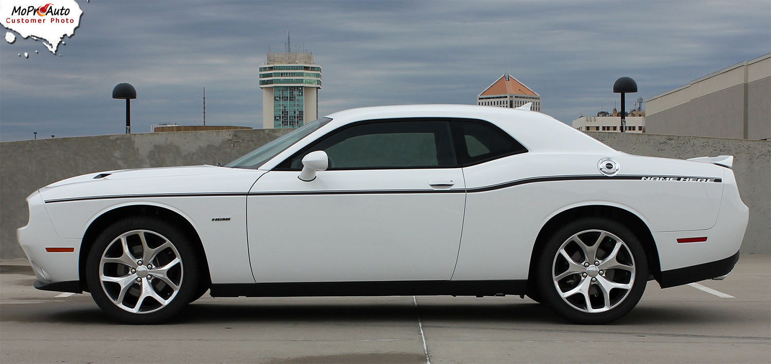 Dodge Challenger OEM Factory SXT Side Stripes 2011 2012 2013 2014 2015 2016 2017 2018 Decals Vinyl Graphics