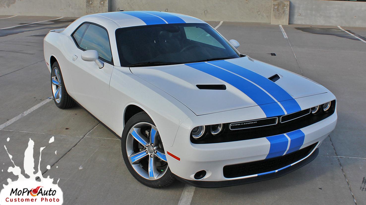 2015, 2016, 2017, 2018, 2019, 2020, 2021 Dodge Challenger RALLY Vinyl Graphics, Stripes and Decals Set
