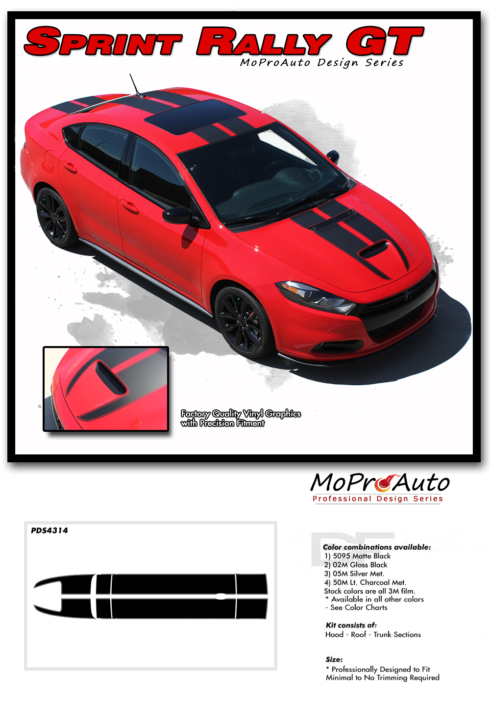 Sprint Rally Gt Hood Roof And Deck Lid Vinyl Graphic