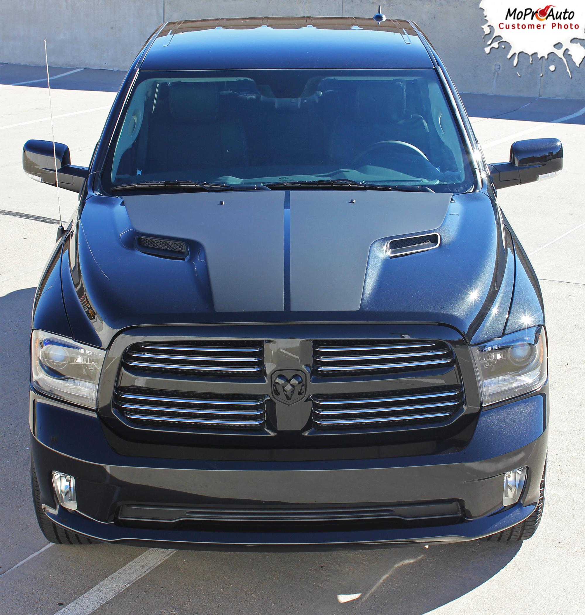 RAM HEMI HOOD : 2018 2017 2016 2015 2014 2013 2012 2011 2010 2009 Dodge Ram Vinyl Graphics Kit