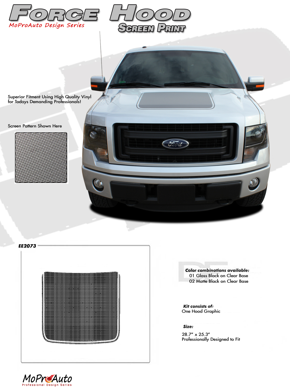 force hood screen print ford f 150 appearance package. Black Bedroom Furniture Sets. Home Design Ideas