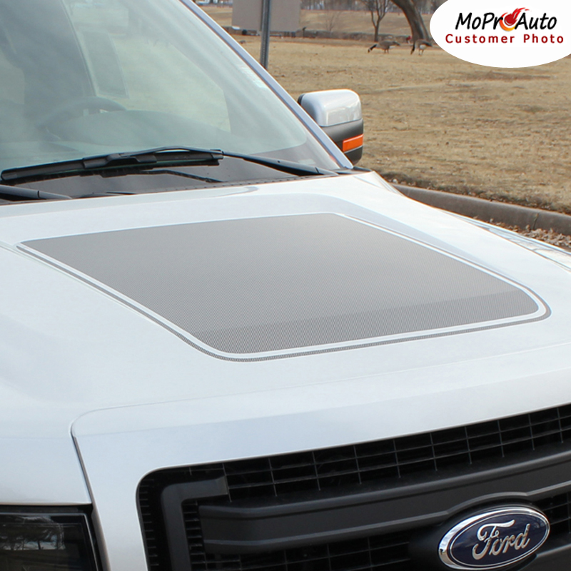 Force Hood Ford F-Series F-150 Appearance Package Vinyl Graphics and Decals Kit by MoProAuto Pro Design Series
