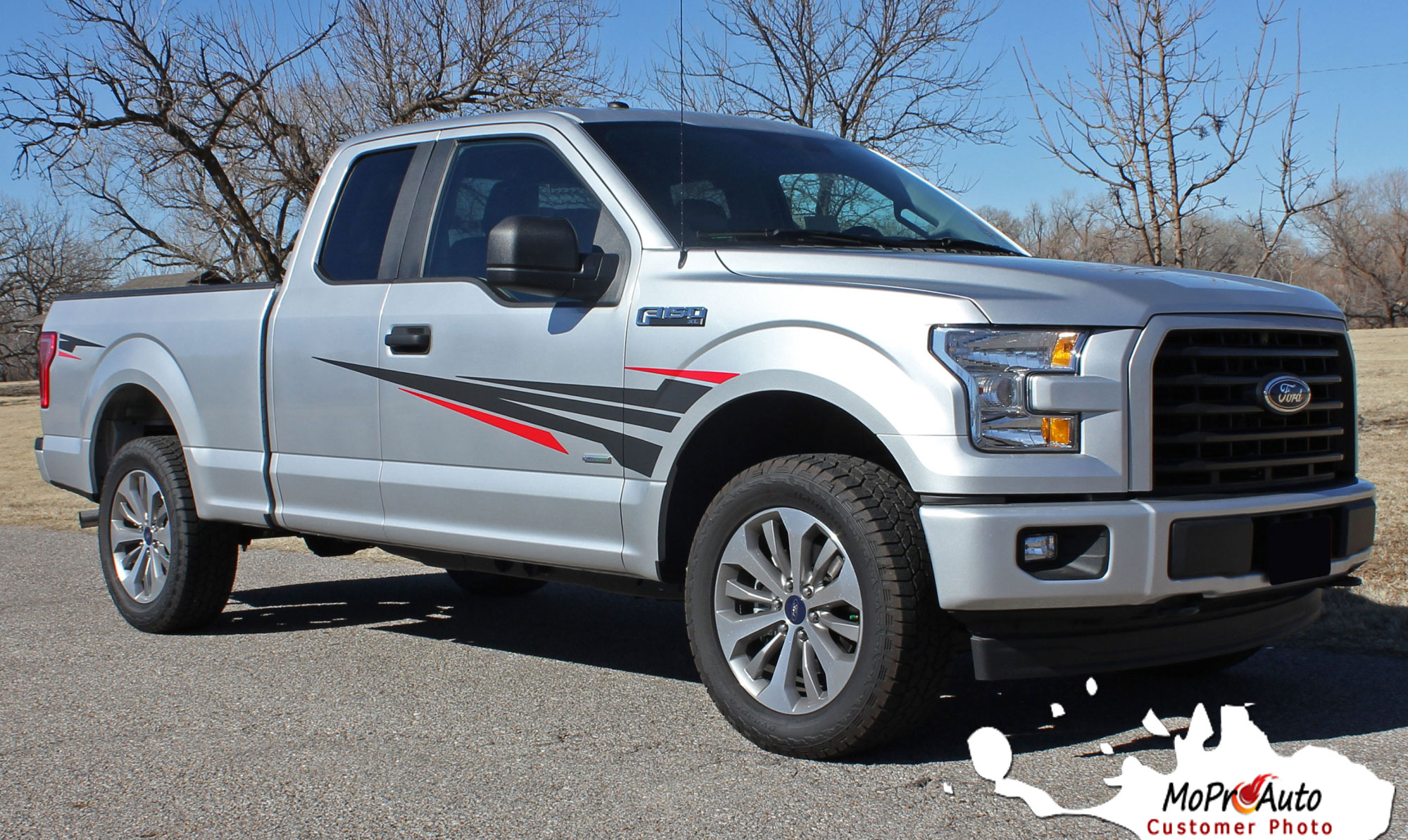 Apollo Fender Door Ford F-Series F-150 Appearance Package Vinyl Graphics and Decals Kit - Customer Photo