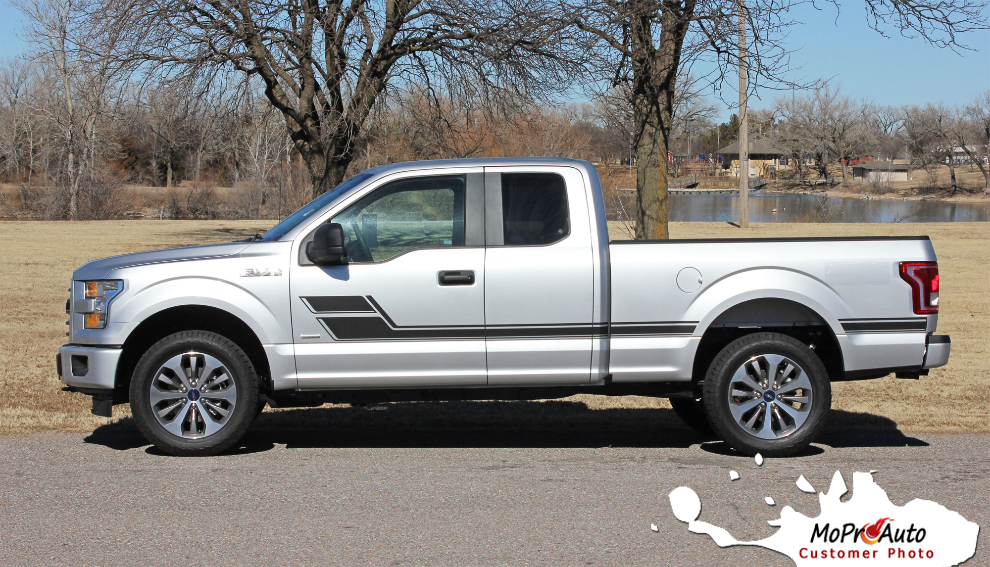 ELIMINATOR Hockey Door Ford F-Series F-150 Appearance Package Vinyl Graphics and Decals Kit - Customer Photo