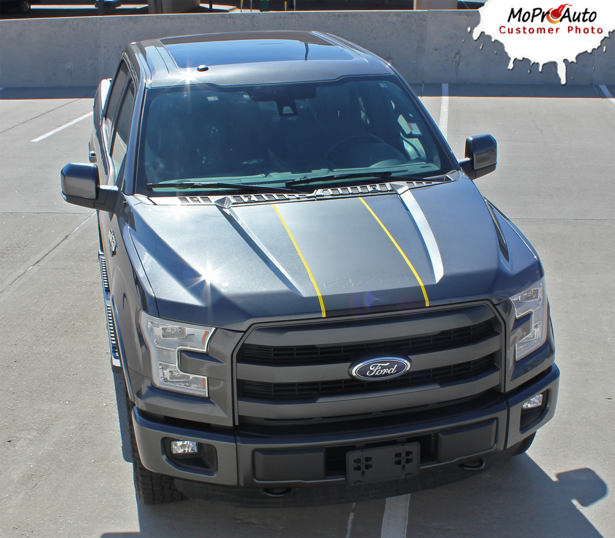 2015, 2016, 2017, 2018, 2019, 2020 Ford F-Series F-150 - MoProAuto Pro Design Series Vinyl Graphics and Decals Kit