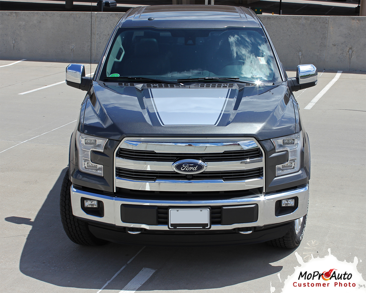 Force Hood Solid Ford F-Series F-150 Appearance Package Vinyl Graphics and Decals Kit by MoProAuto Pro Design Series