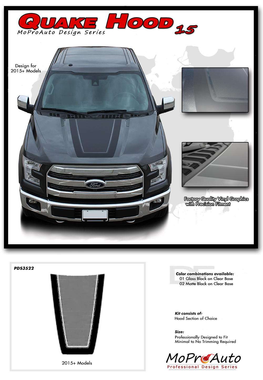 F 150 Quake Hood Ford F 150 Hockey Stripe Quot Tremor Fx