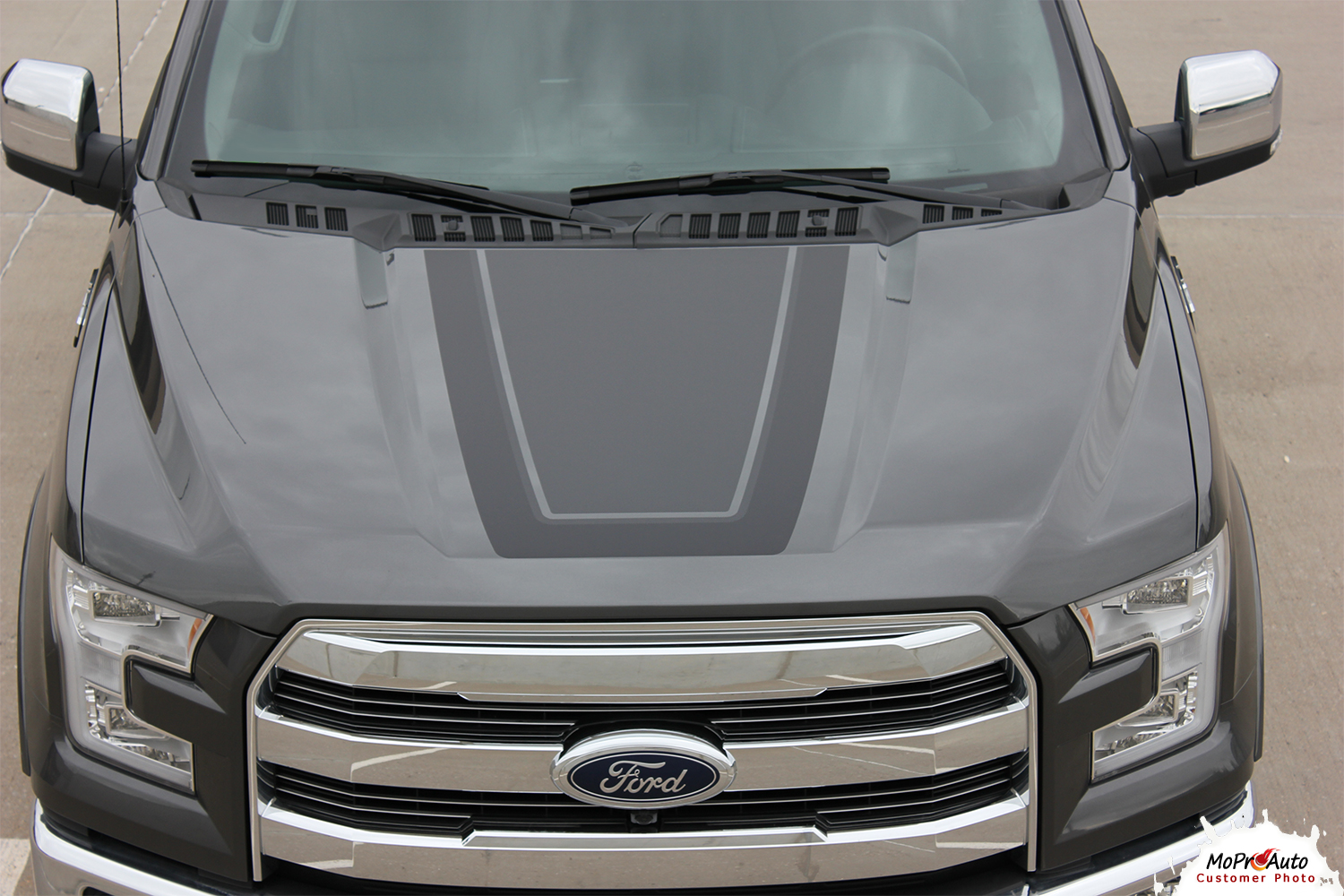 2015 2016 2017 2018  Ford F-Series F-150 Vinyl Graphics Stripes and Decals Kit Tremor FX Appearance Package Hood by MoProAuto Pro Design Series